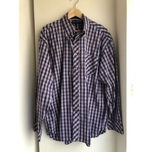 Tommy Hilfiger blue plaid button down